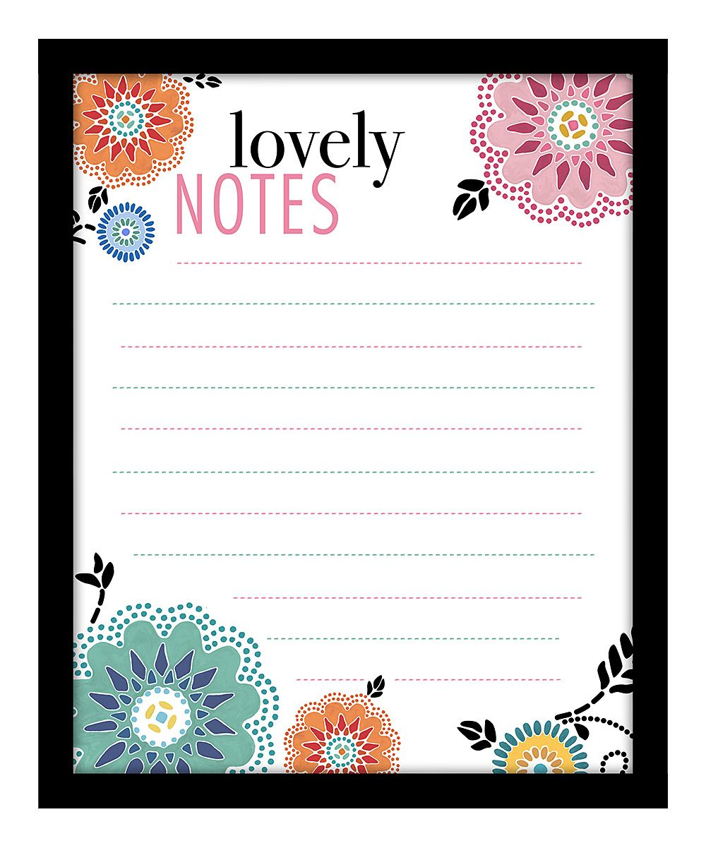 'Lovely Notes' Floral Memo Board... easy to make myself