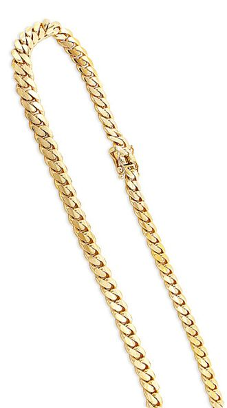 Miami Yellow Gold Cuban Link Curb Chain 14k 2 5mm 22 40in Gold Chains For Men Gold Chain Design Mens Gold Jewelry