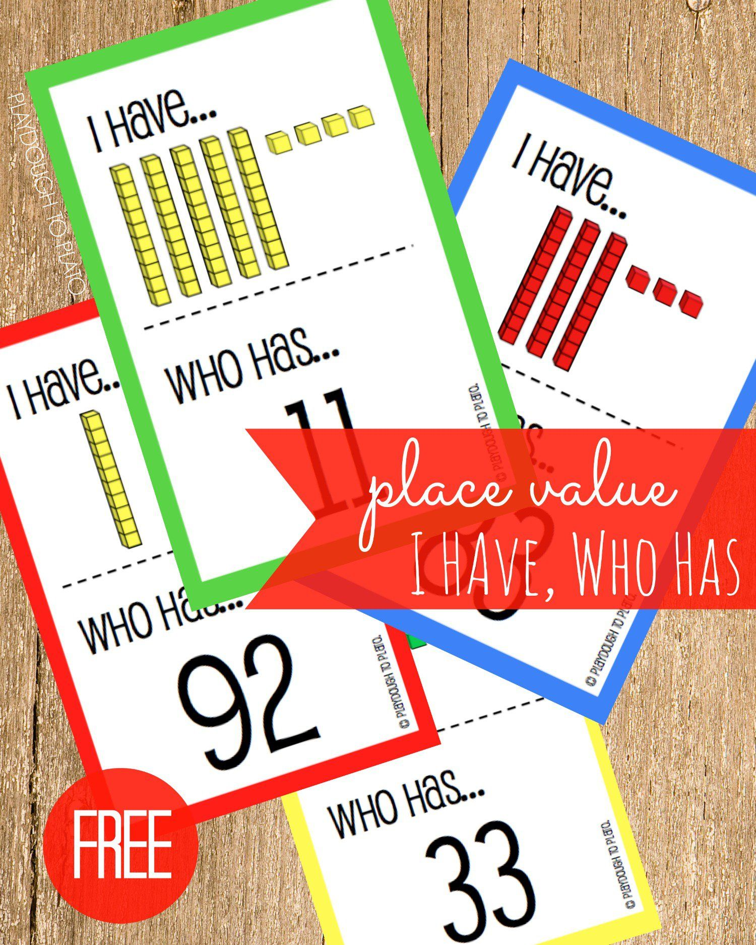 Free Place Value I Have Who Has