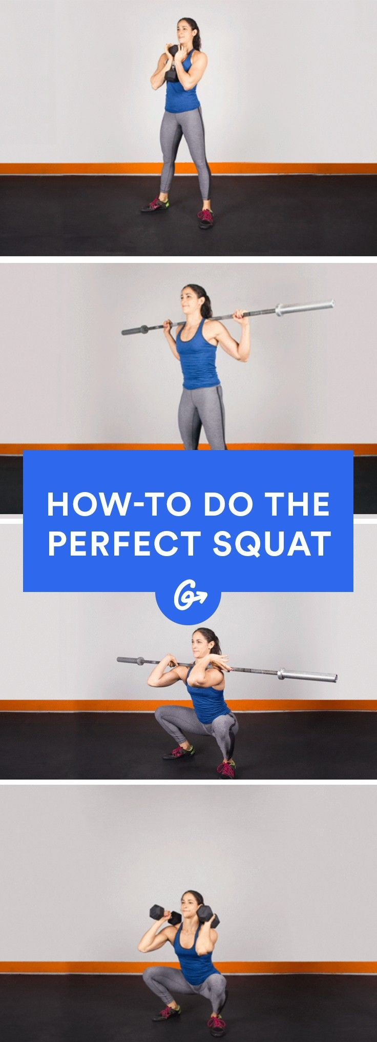 Perfect Squat Form in 7 Steps Perfect squat, Workout