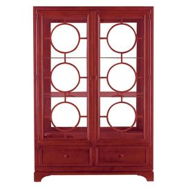 Great Contemporary China Cabinet In Red