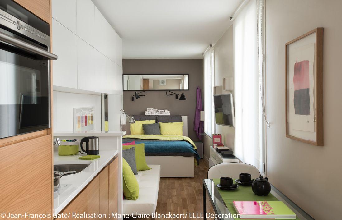 visite en 3d d 39 un studio ultra fonctionnel elle. Black Bedroom Furniture Sets. Home Design Ideas