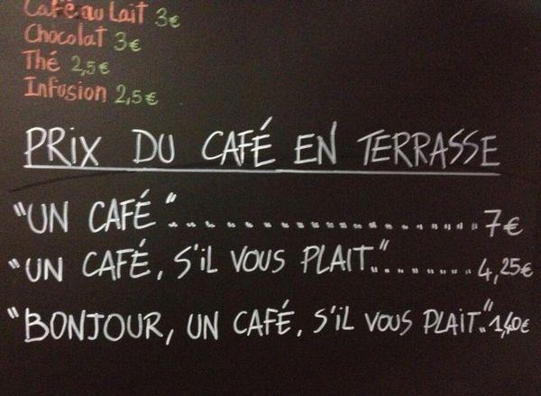 """Résultat de recherche d'images pour """"un petit café en terrasse humour"""""""