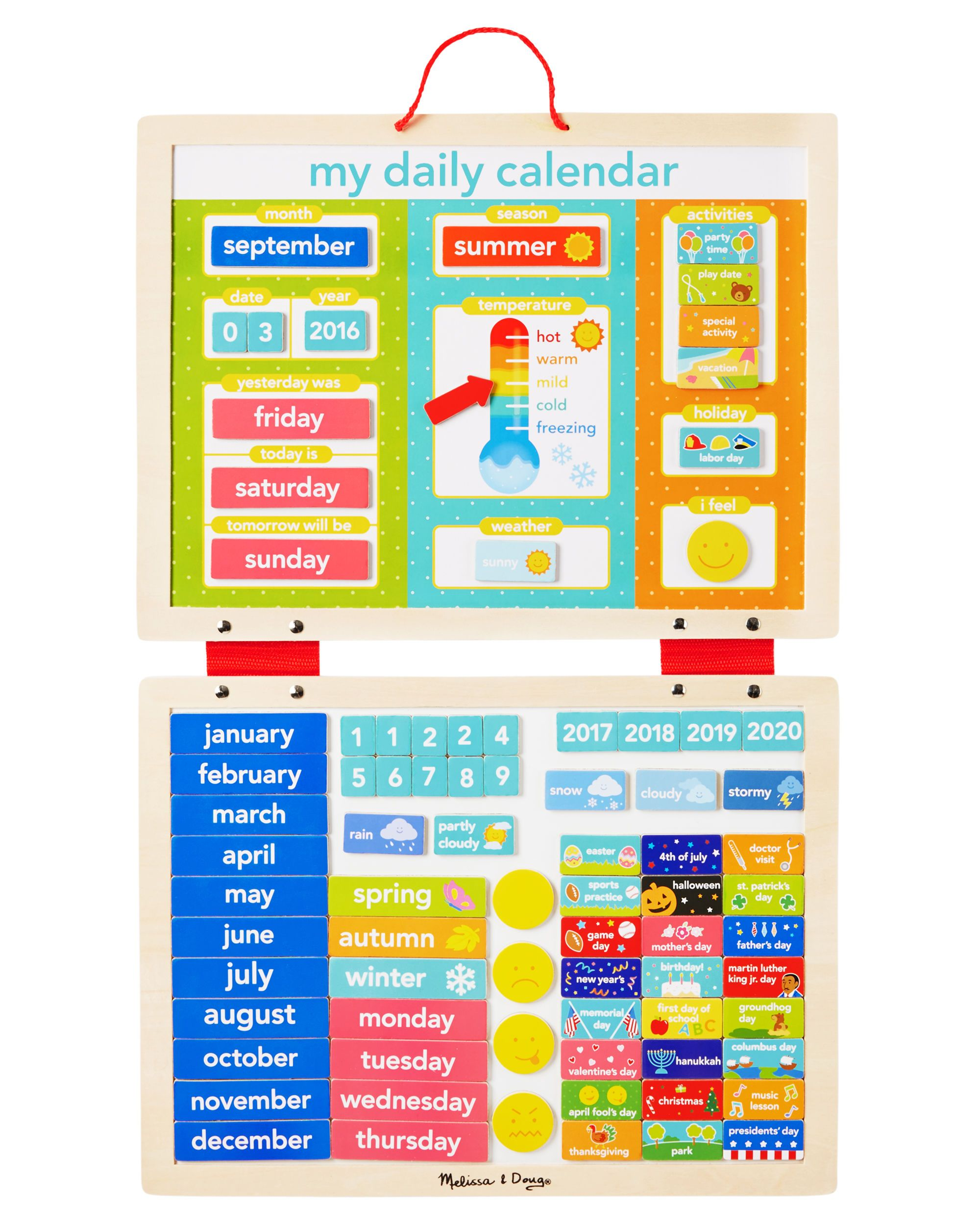 Melissa And Doug My Magnetic Daily Calendar From CartersCom Shop