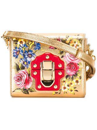 Shop Dolce & Gabbana floral cross body bag.