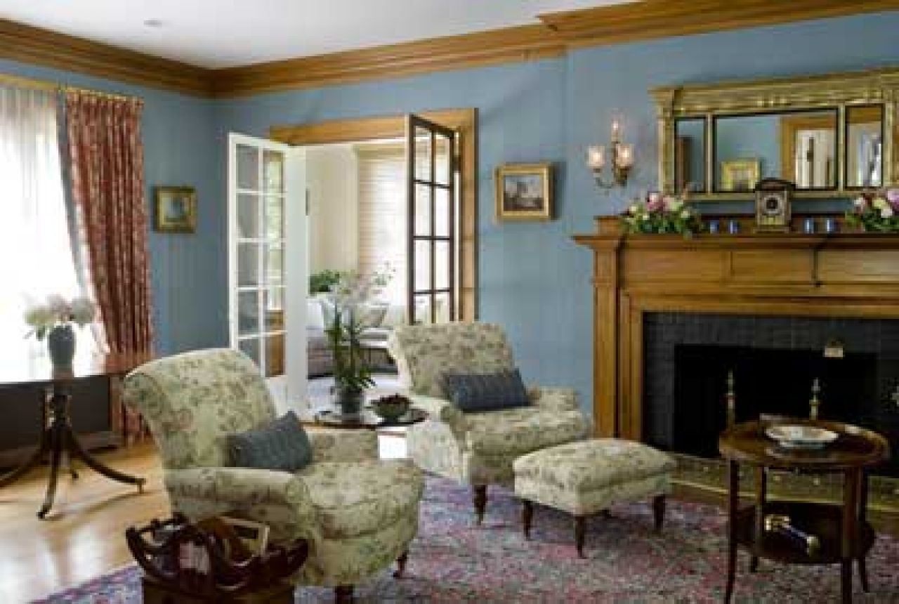 Ordinary Colonial Homes Decorating Ideas Part - 13: Restored Colonial Revival Living Room