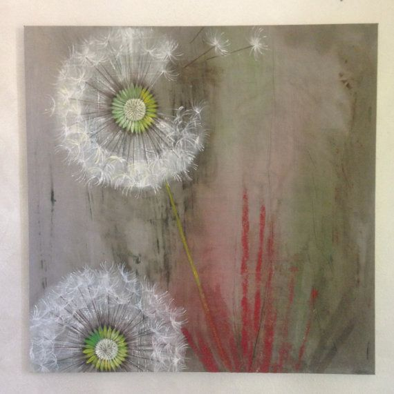 Large painting white flowers. Flowers painting. Large wall art ...