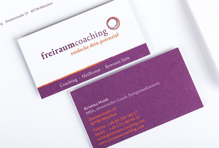 Freiraum Coaching Corporate Design Visitenkarte