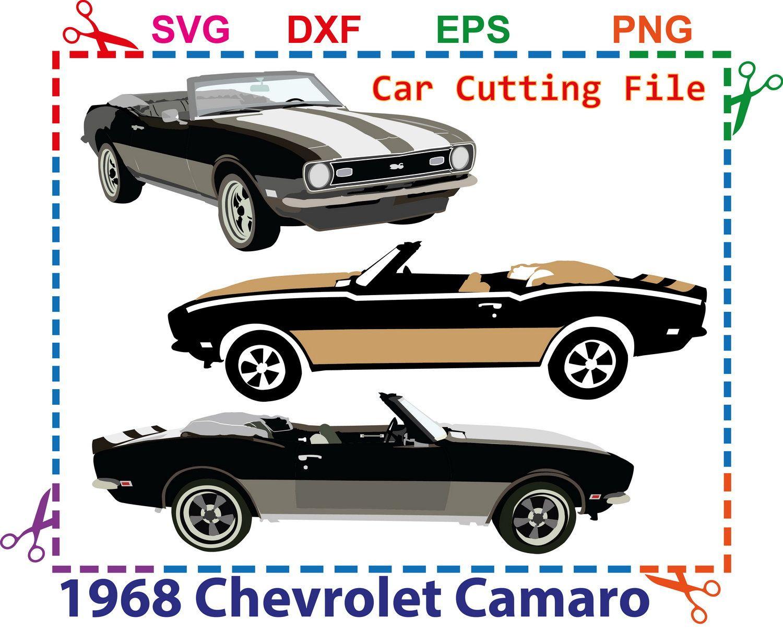 1968 Chevrolet Camaro Digital Cars Svg Files Cricut Designs Cars