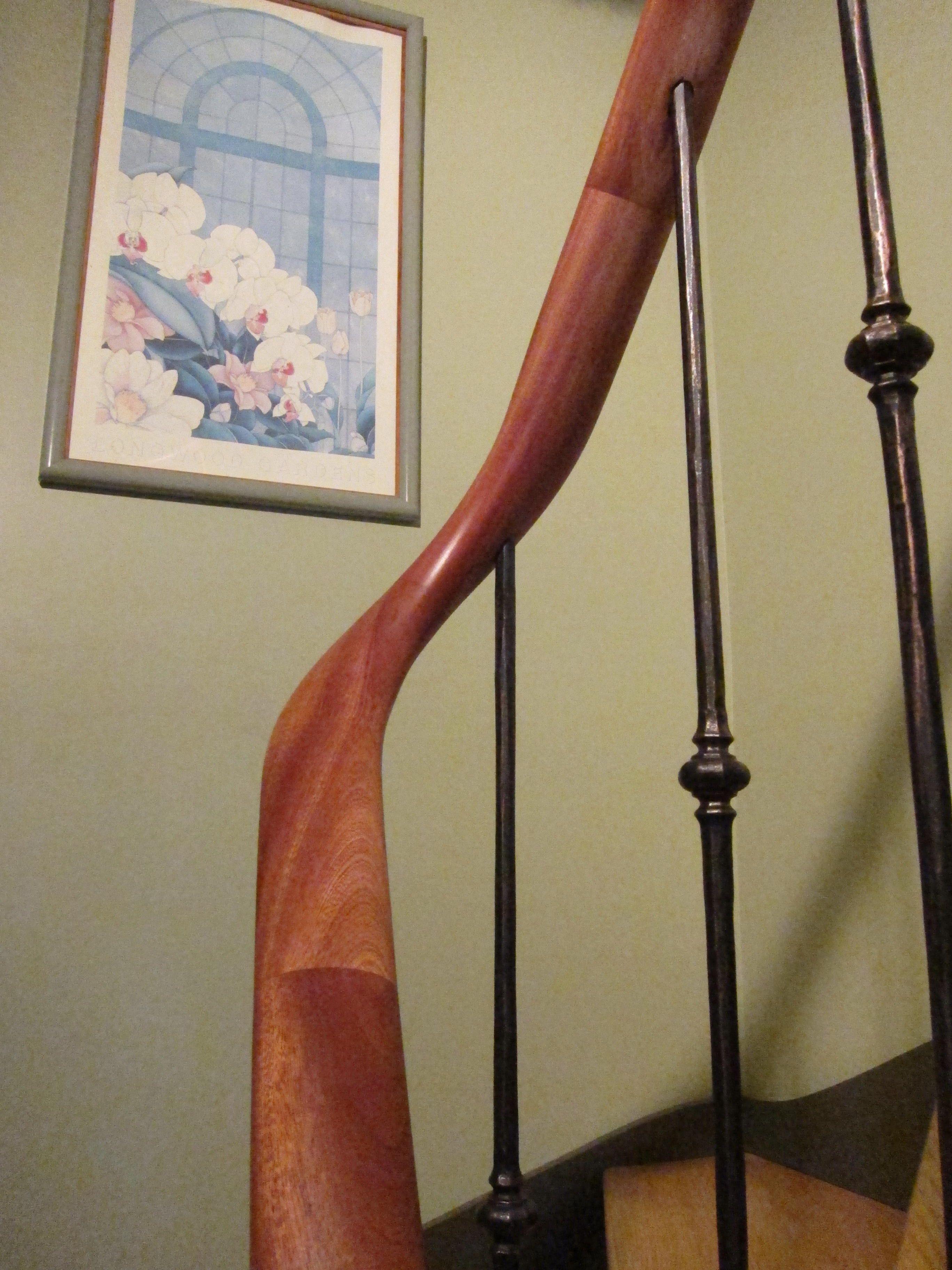 Wreath Handrail, Custom Handrail, Wood Handrail, Handrail