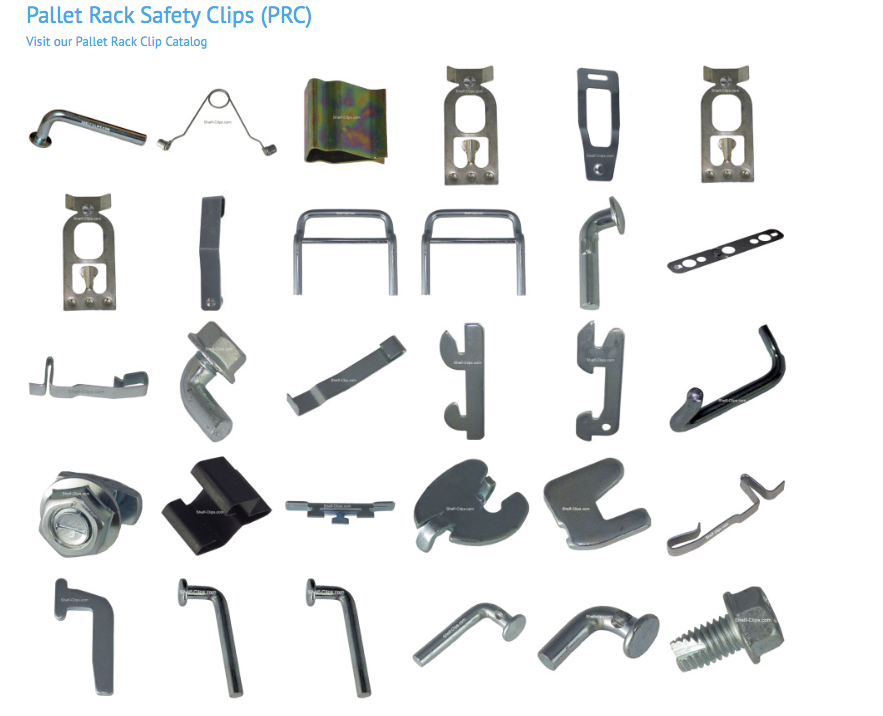 The Offical Shelf Clip And Pallet Rack Clip Identifier