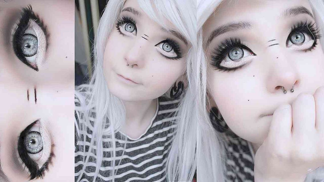 Larger eyes.