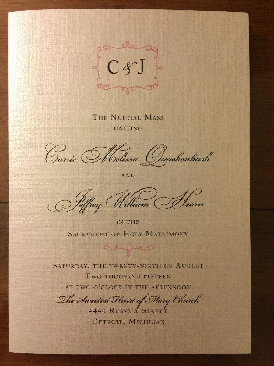 30+ Exclusive Image of Catholic Wedding Invitations