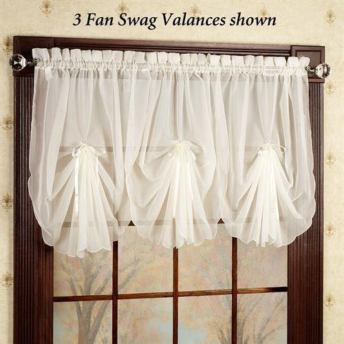 Emelia Sheer Fan Swag Valances Swag Curtains Swag Curtains For Kitchen Curtains