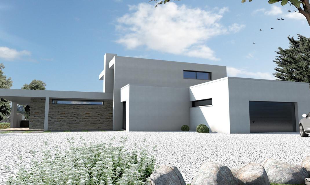 Maison ultra moderne noir et blanc nantes maisons ultra for Maison contemporaine nantes