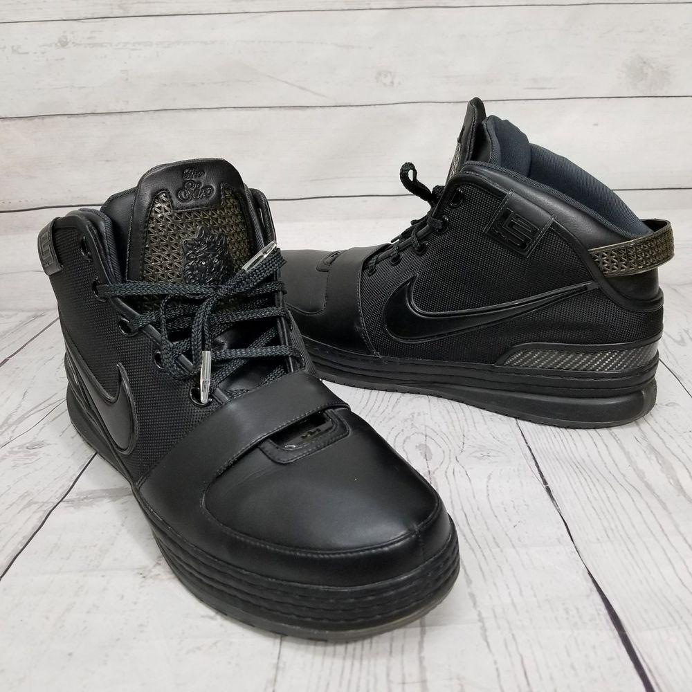 Nike Lebron James The Six 6 All Black Size 16 Eu50 5 Basketball