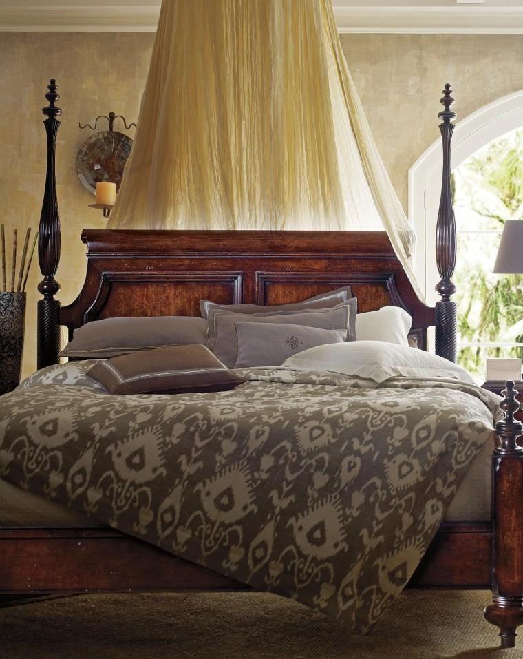 Muebles estilo colonial - interiores elegantes con madera ...