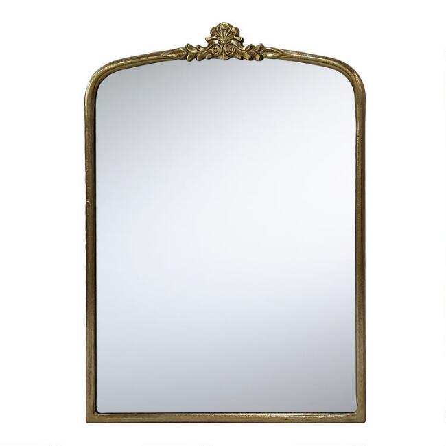 Brass Vintage Style Vanity Mirror V1, Vintage Brass Mirror Wall Hanging