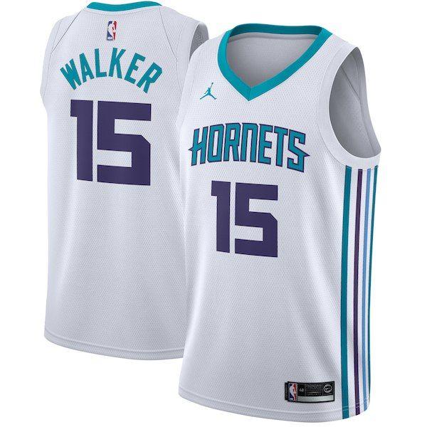 9ed7160823c254 Kemba Walker Charlotte Hornets Jordan Brand Swingman Jersey White -  Association Edition  CharlotteHornets