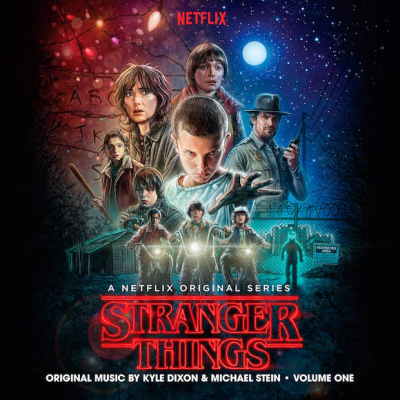 Stranger Things Soundtrack Vol 1 Clear With Black Smoke Colored Vinyl Stranger Things Soundtrack Michael Stein Stranger Things