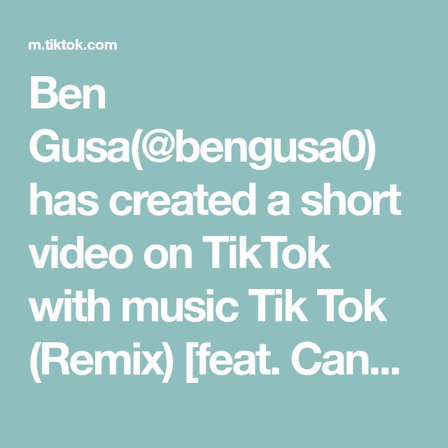 Ben Gusa Bengusa0 Has Created A Short Video On Tiktok With Music Tik Tok Remix Feat Candela Music Major Musik Challenge Reto Soloyotengo Soloyopue Di 2020