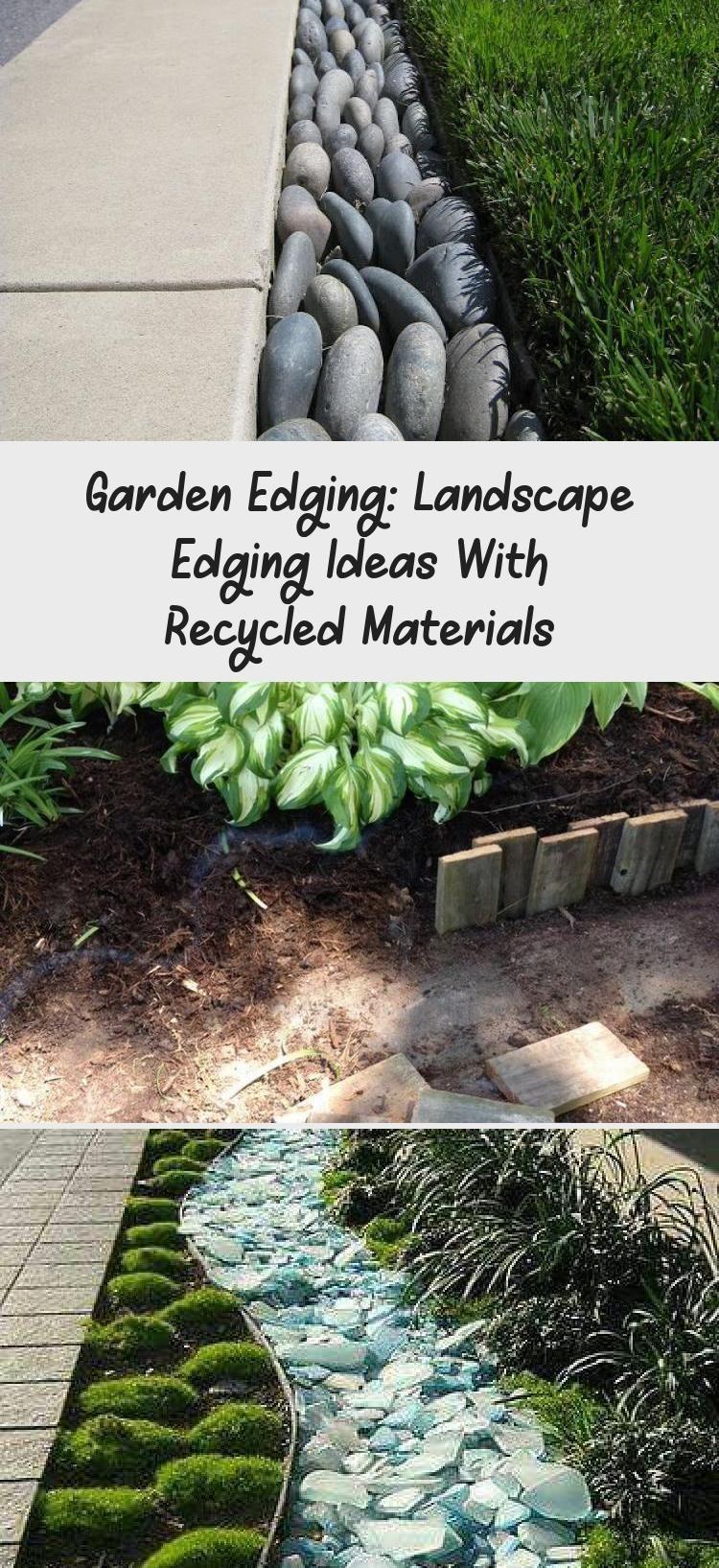 Garden Edging Landscape Edging Ideas With Recycled Materials Decoration Decor In 2020 Garden Edging Landscape Edging Recycled Garden