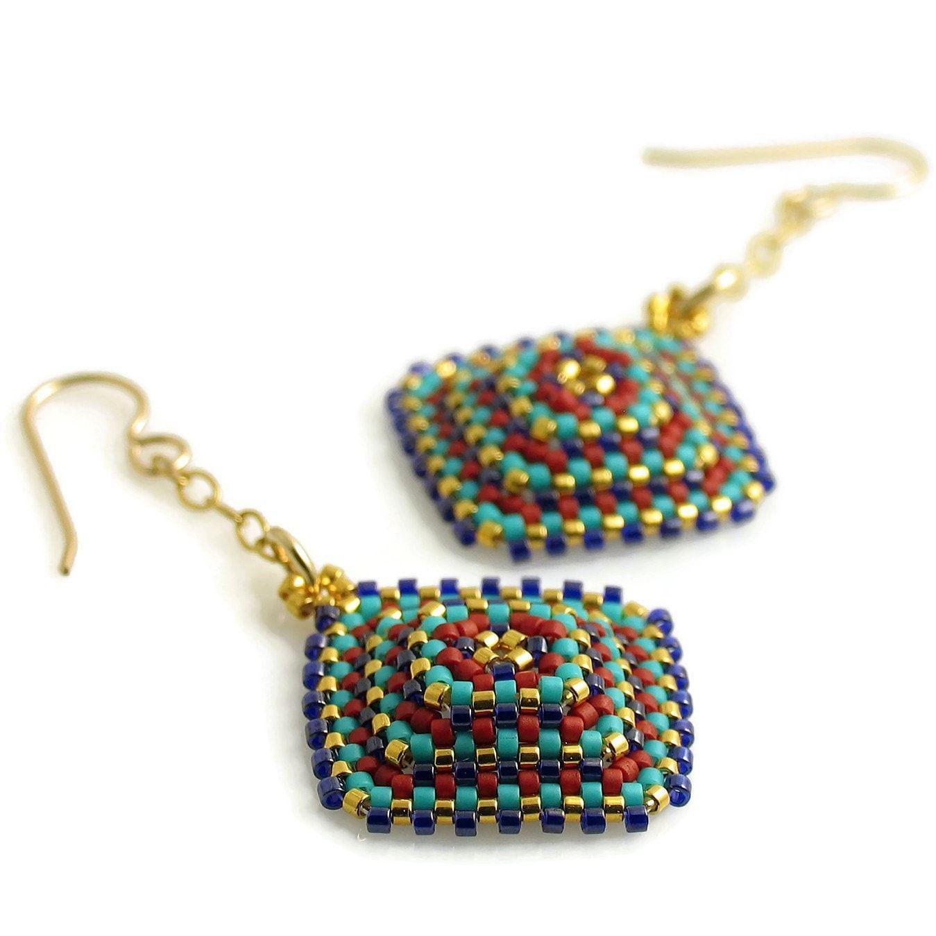 Delight & Joy Textured Square Earrings
