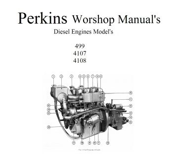 perkins marine diesel engine s workshop manual s collection 4 108 rh pinterest com perkins 6.354 marine diesel manual perkins marine diesel parts manual