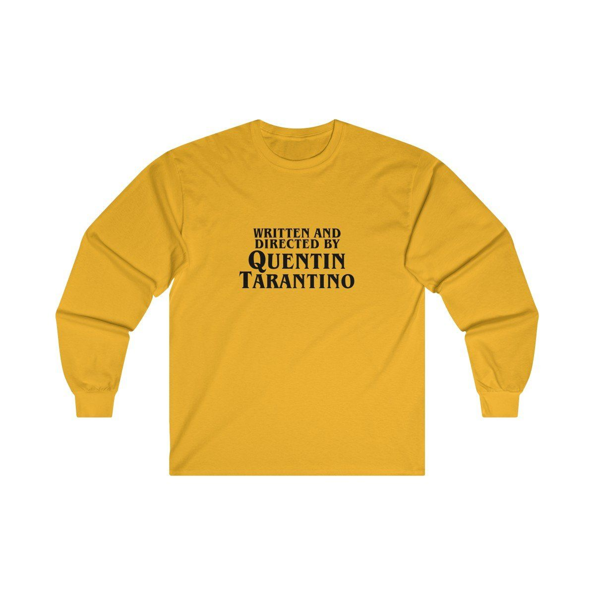WRITTEN AND DIRECTED BY QUENTIN TARANTINO long-sleeved screenprinted T Shirt