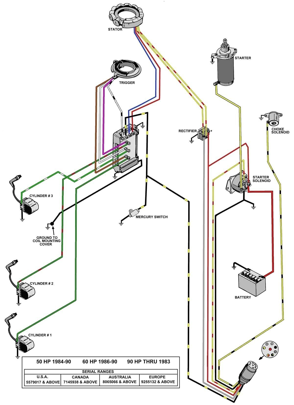 Key Switch Wire Diagram For A Mercury Outboaed With Chock