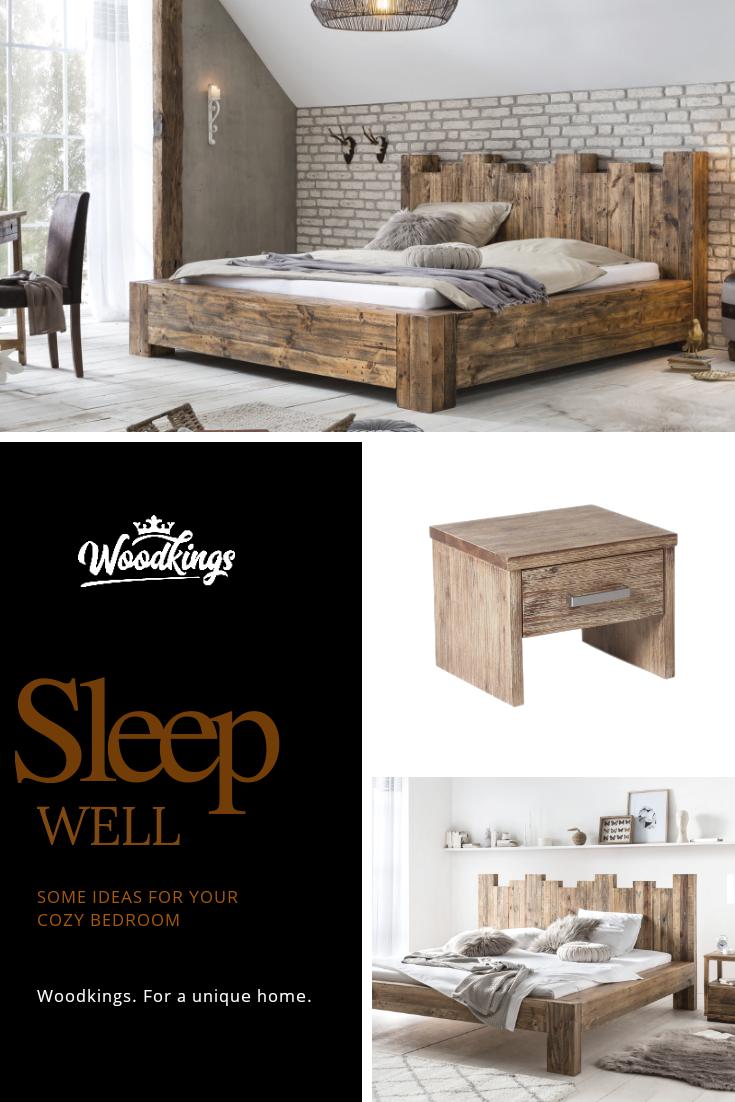 Betten Aus Massivholz In 2020 Holzbetten Schlafzimmer Ideen Gemutlich Schwebebett