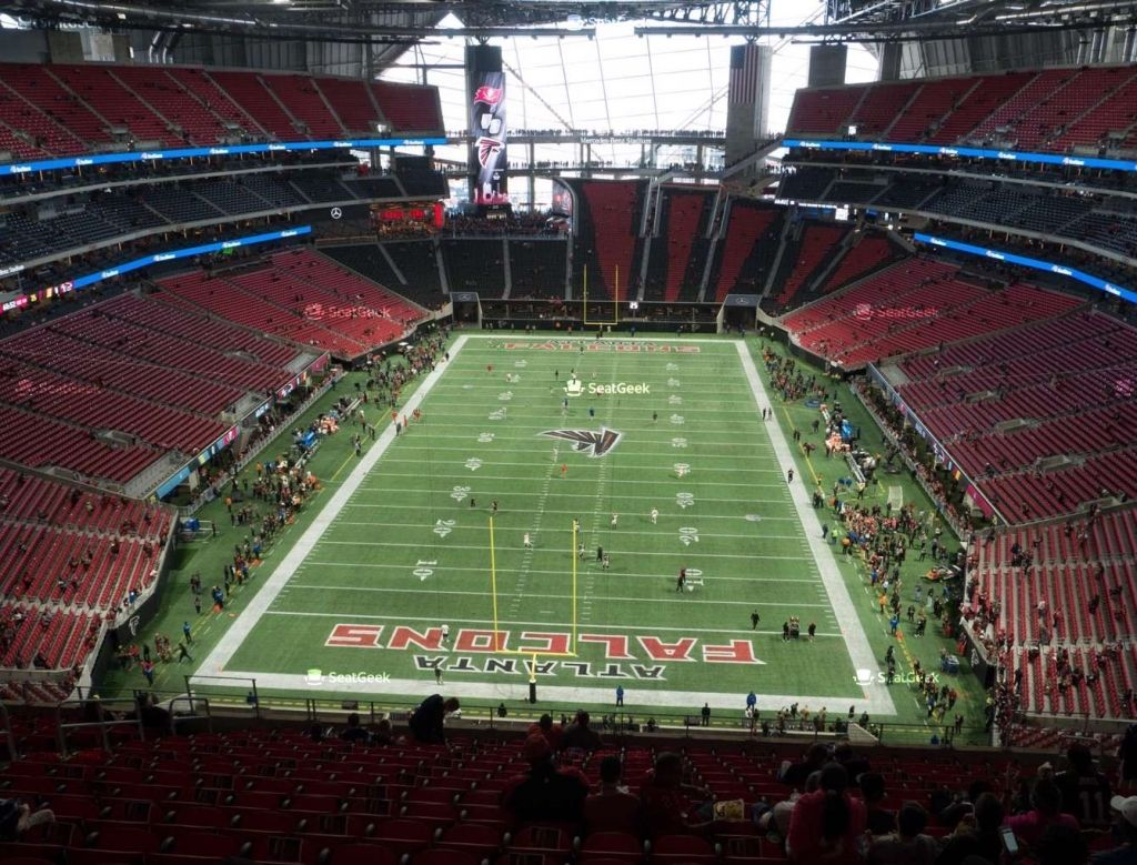 Our First Ever Open Practice In Mercedesbenzstadium Is Today Who S Sliding Through Atlanta Falcons Wallpaper Atlanta Falcons Atlanta Falcons Art