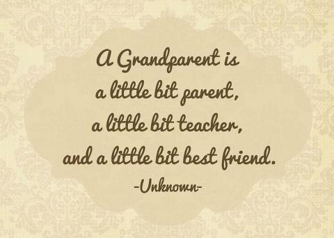 Grandparents Print Tan Damask I Love My Grandma