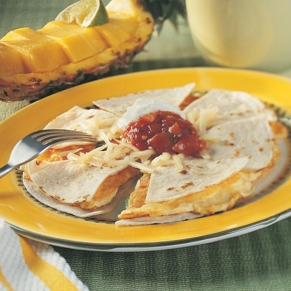 Zesty breakfast for dinner!? Breakfast Quesadilla recipe with Cabot Jalapeno Light Cheddar