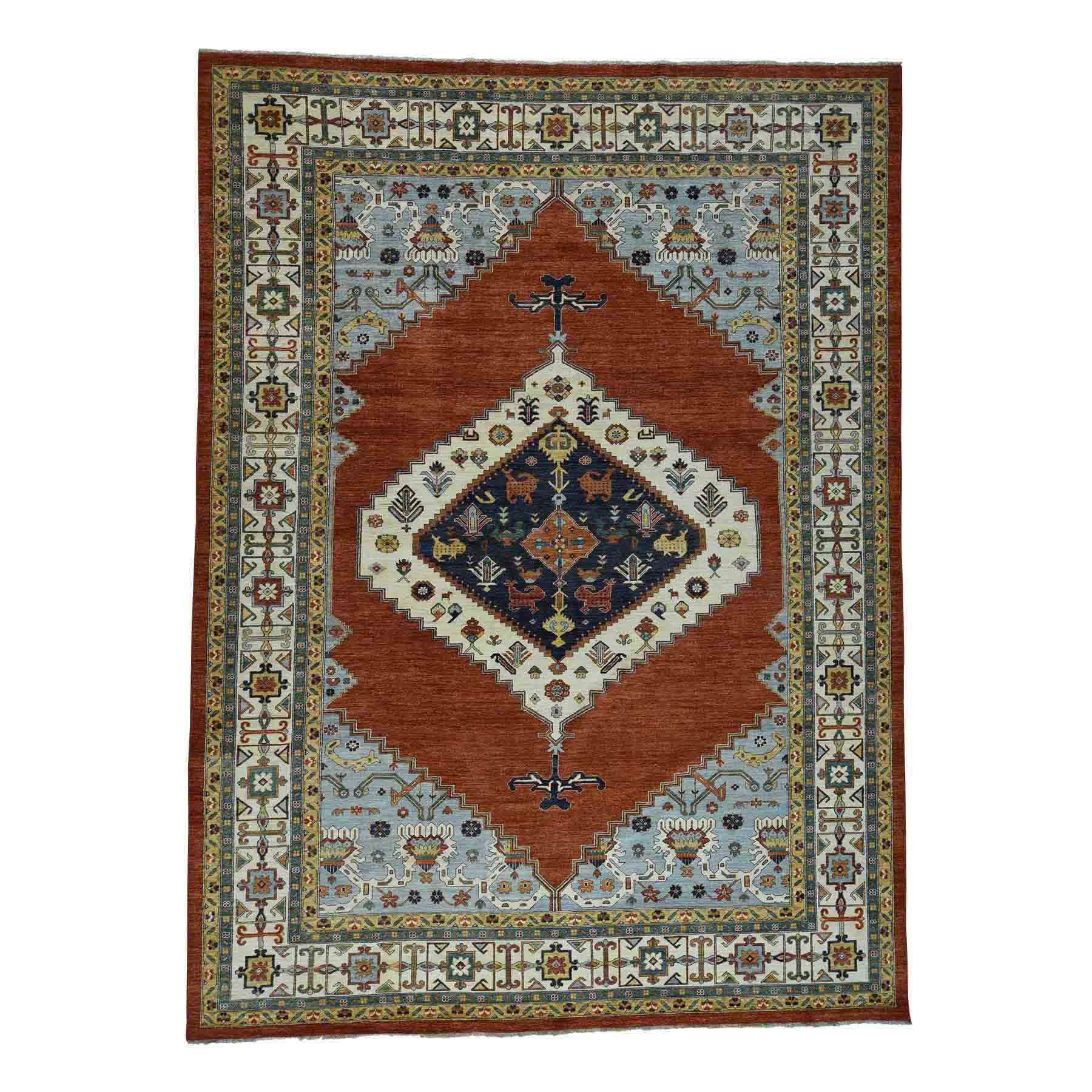 This Is A Gorgeous Rug Whose Colors Are Great But It S Such A Distinctive Medallion That I Think It Won T Wor Wool Area Rugs Oriental Wool Rugs Rugs On Carpet