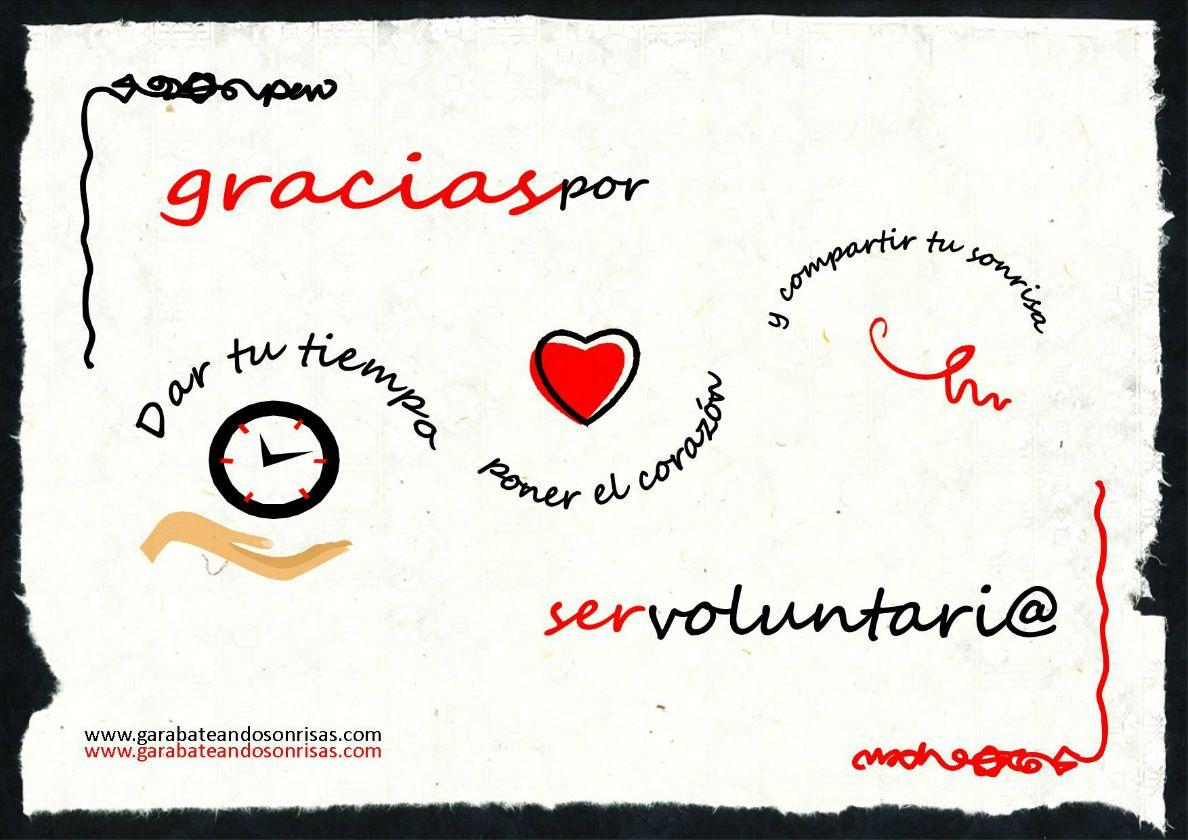 Frase De Aniversario Laboral: #garabateandosonrisas #gracias Por Ser #voluntario