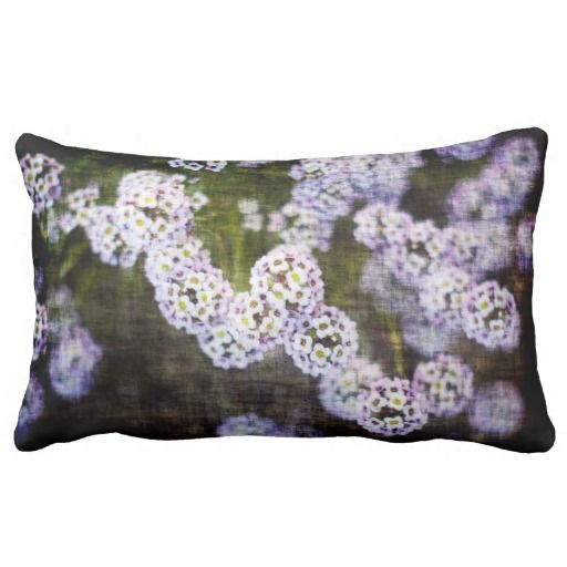 Flowery Grunge Pillow from Florals by Fred #zazzle #gift #photogift