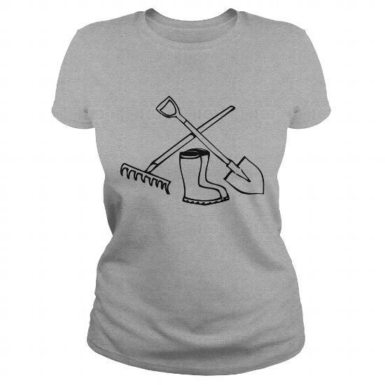 I Love Garden shovel rake gummistiefel TShirts  Mens Premium TShirtXEKJWEM T-Shirts