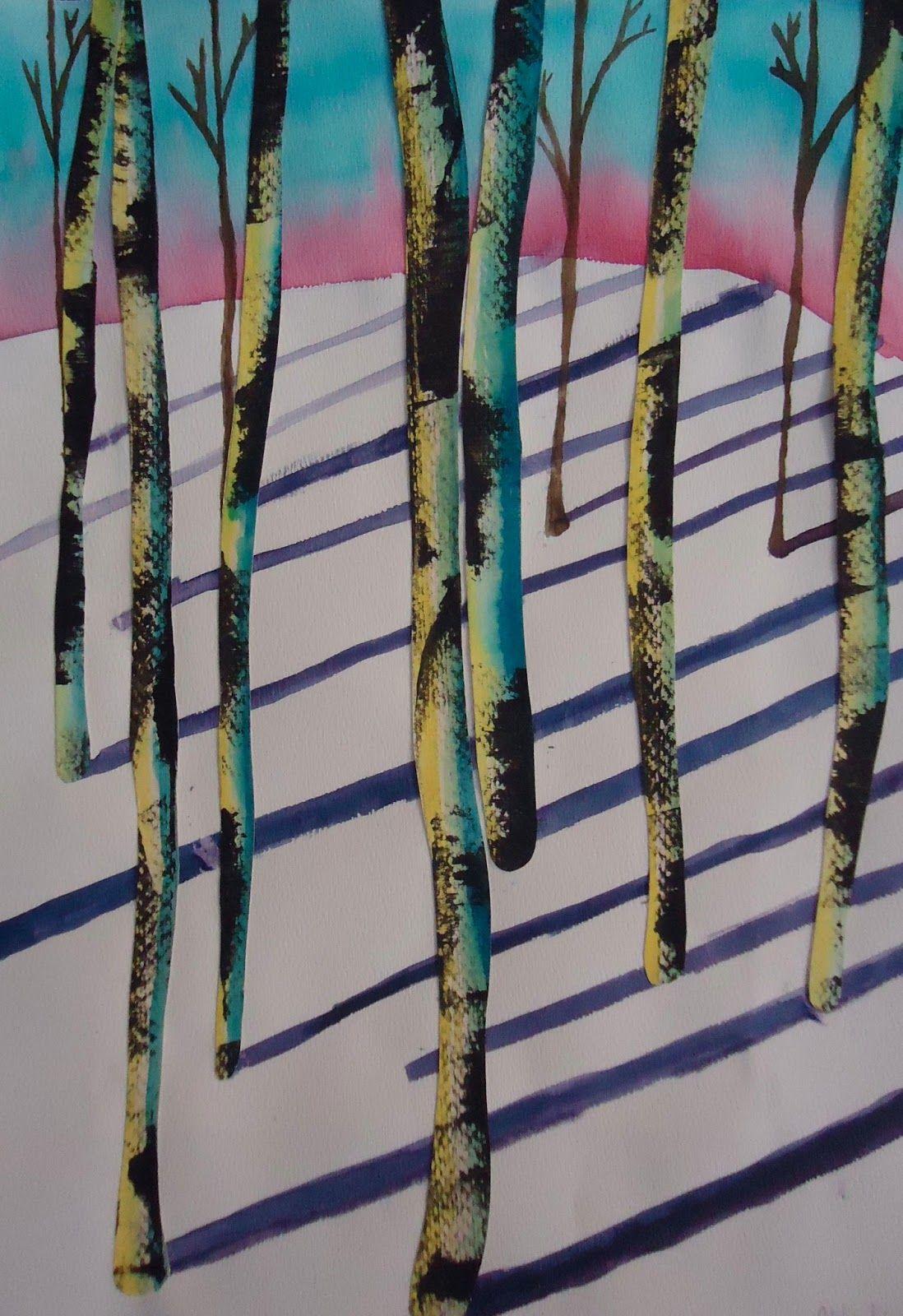 Mini Matisse Winter Wooded Watercolor