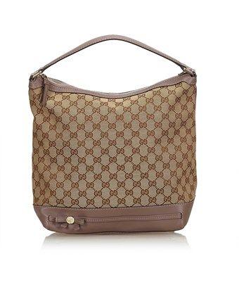 984e8cc9cb4f GUCCI PRE-OWNED: GUCCISSIMA JACQUARD HANDBAG. #gucci #bags #leather ...
