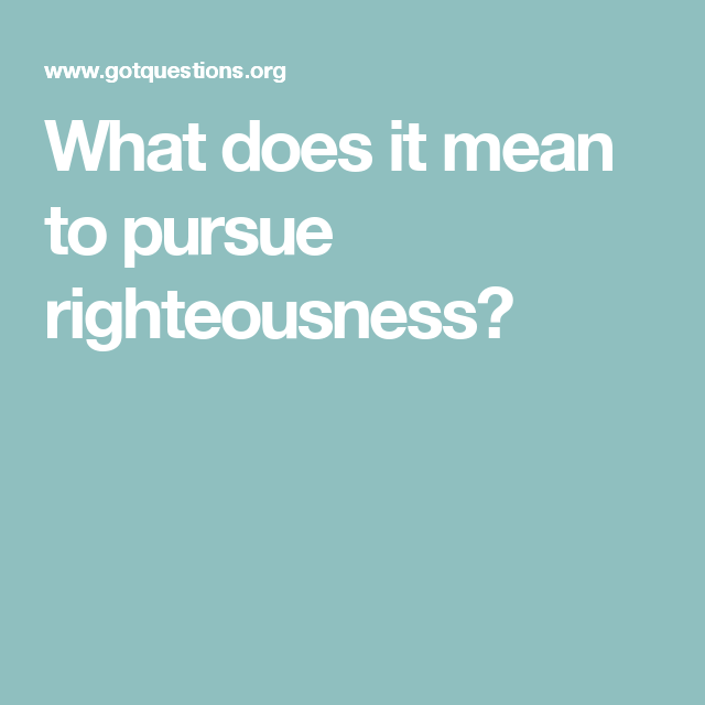 what does pursue mean