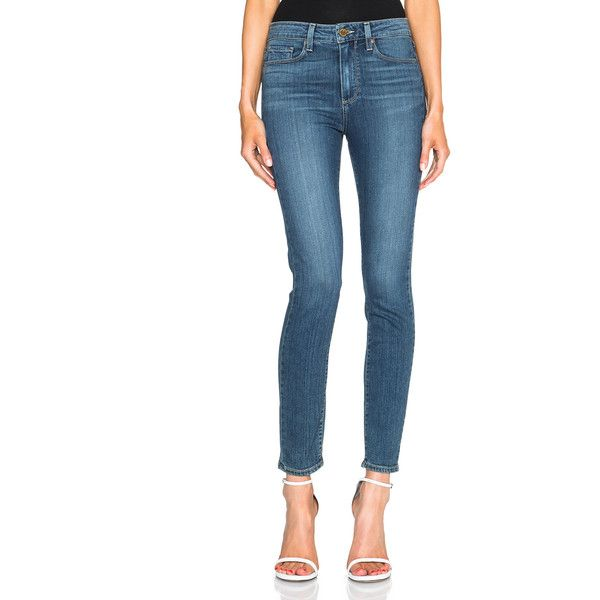 Paige Denim Hoxton Ankle ($189) ❤ liked on Polyvore featuring jeans, paige denim skinny jeans, paige denim, frayed jeans, white skinny jeans and white jeans