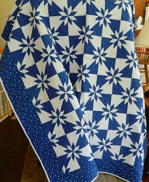 Becky's Hunter Star Quilt ... find inspiration, share your quilts, and see what dies work together on Quilter's Spotlight!