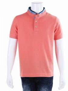 5882cd0296 Indian Terrain plain peach cotton boys t-shirt   yyu   Boys t shirts ...