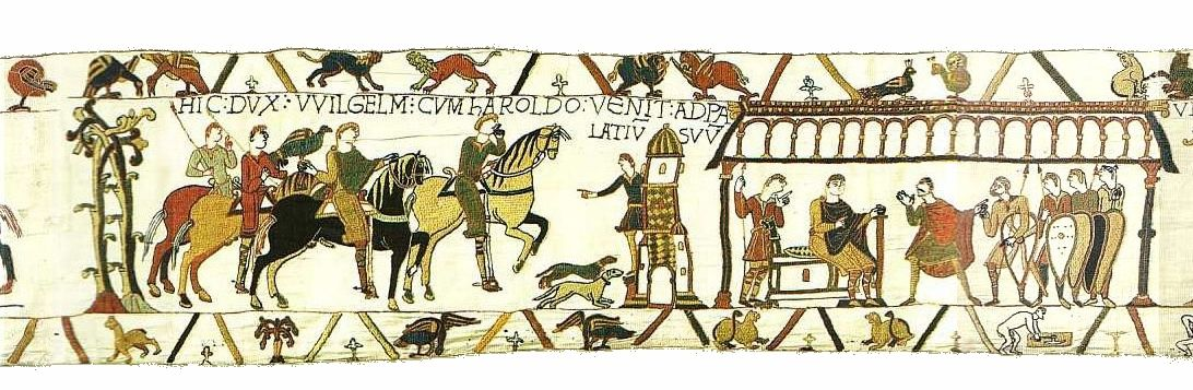 Bayeuxtapestryscene14 Bayeux Tapestry Tituli Wikipedia In 2021 Bayeux Tapestry Tapestry Vintage World Maps