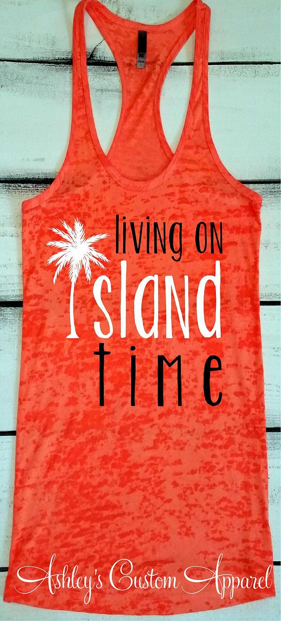Island Vacation Shirt Beach Vacation Tank Top Swimsuit Cover | Etsy