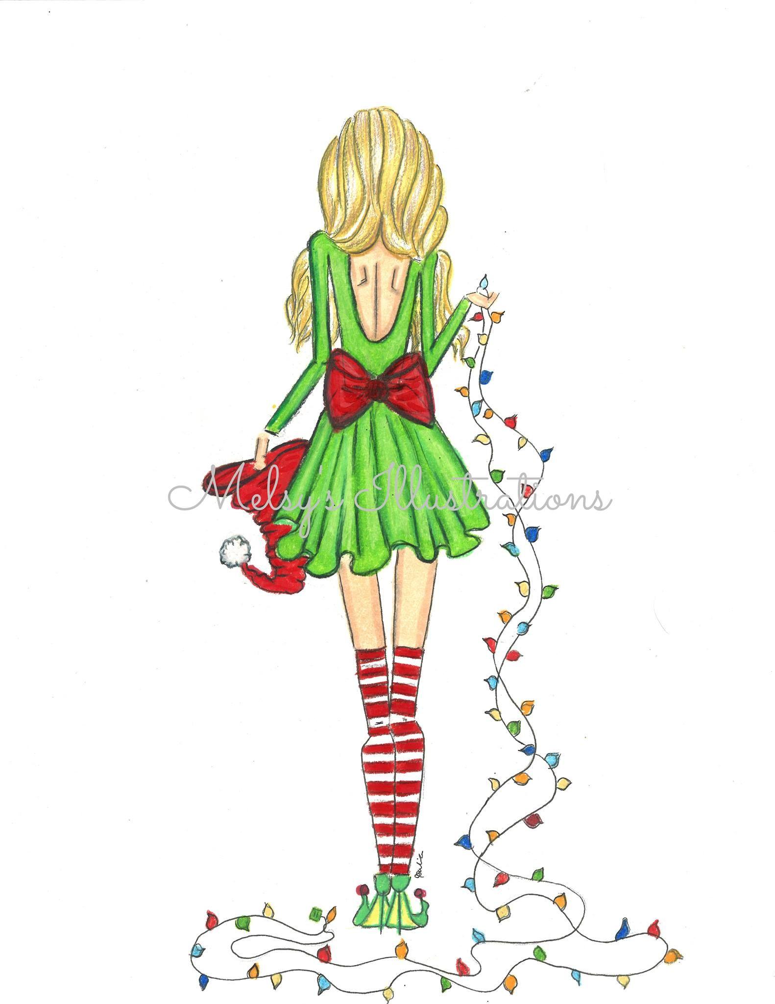 Melsy's Illustration Christmas Christmas drawing
