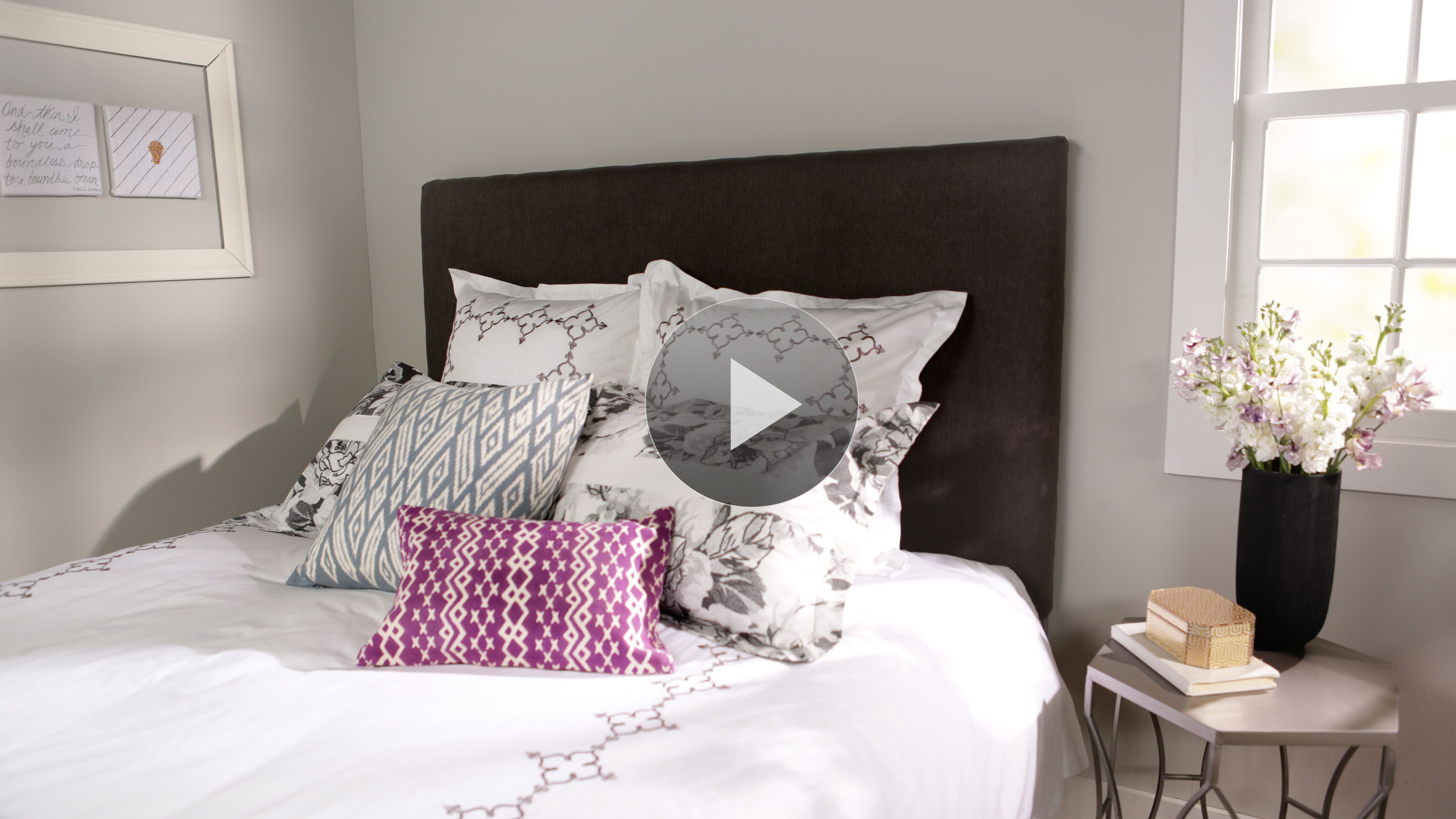 Better Homes And Gardens Bedroom Furniture: A Tutorial Video That Shows How To Make A Padded, Fabric