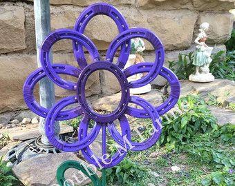 Items Similar To Horseshoe Flower  Garden Decor On Etsy