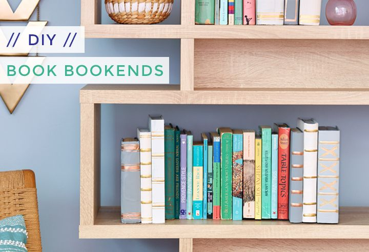 DIY 'Book' Bookends